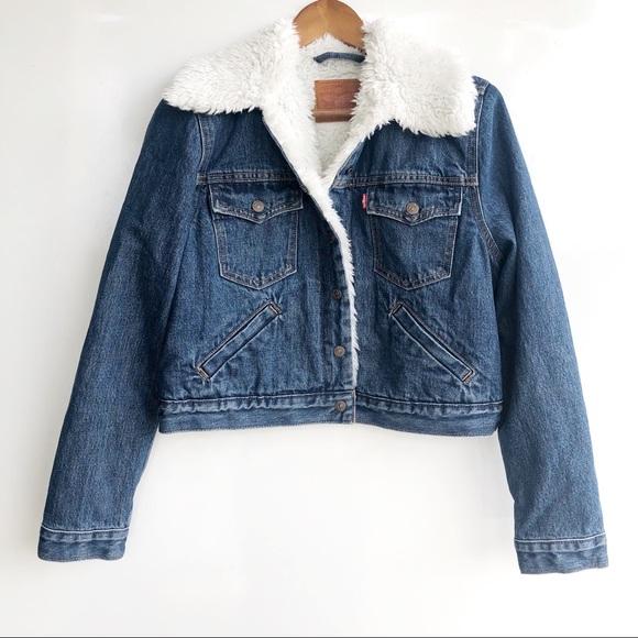 Levi's Vintage Jacket In Trucker Cropped Jean